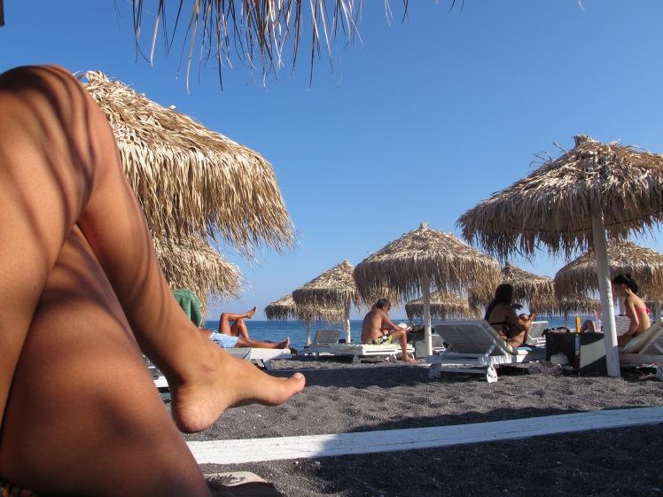 Chillin' at Perissa Beach
