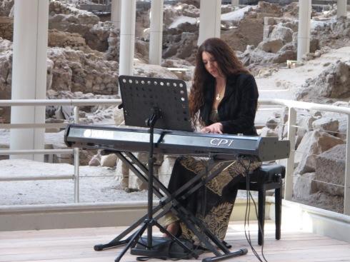 Pianist at Akrotiri